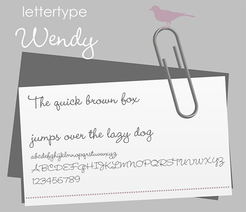 Lettertype Wendy
