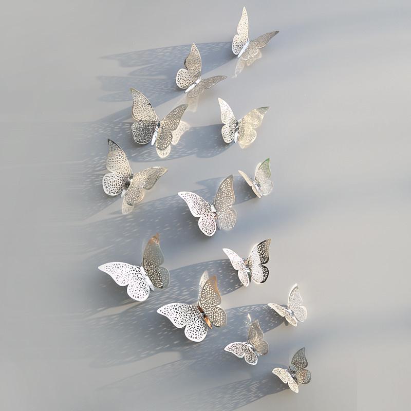 3D Vlinders Metaal zilver