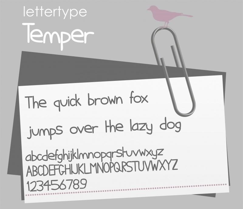 Lettertype Temper