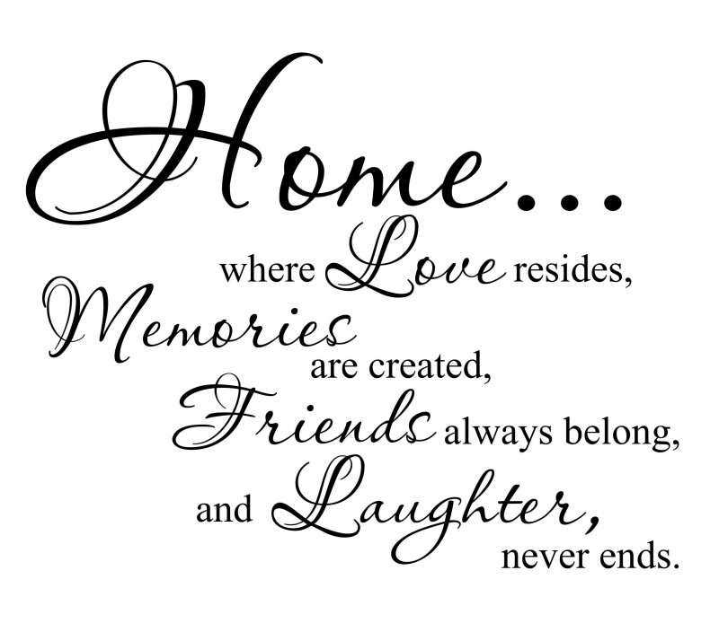Muurtekst Home, Love, Memories..