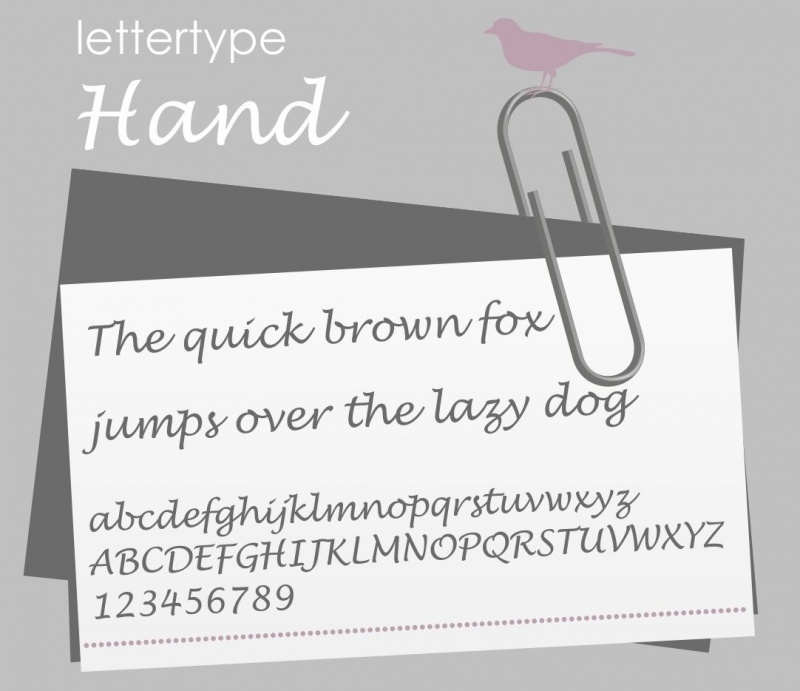 Lettertype Hand