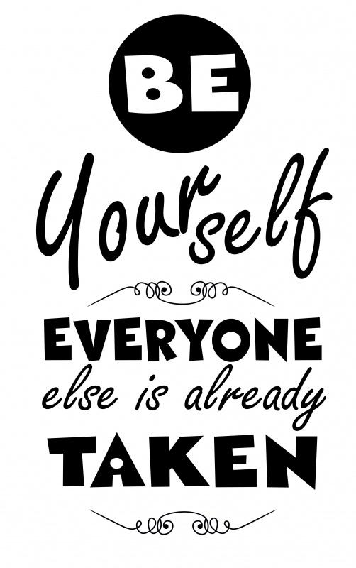 Muursticker Be Yourselve