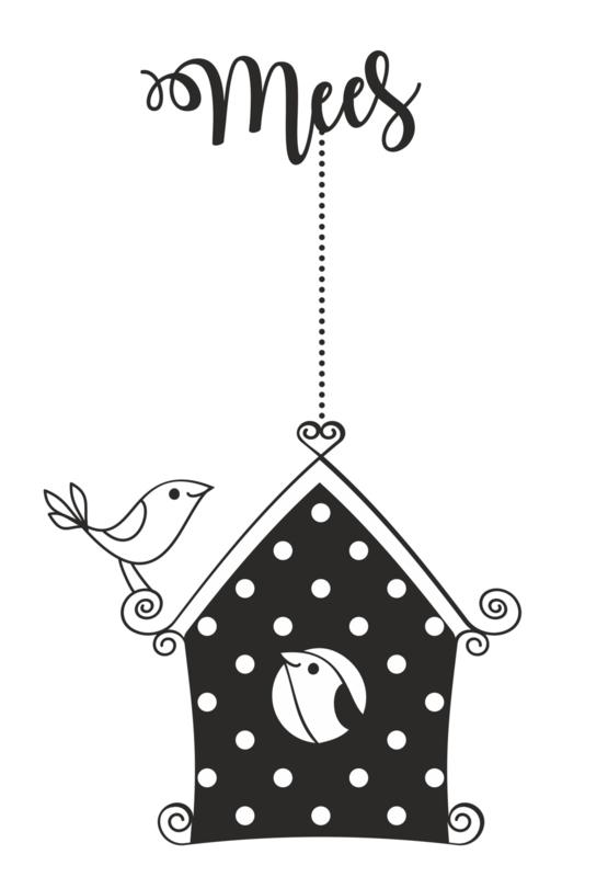 Naamsticker Vogelhuis