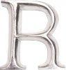 POSH Graffiti Silver Wooden 12 cm letter R