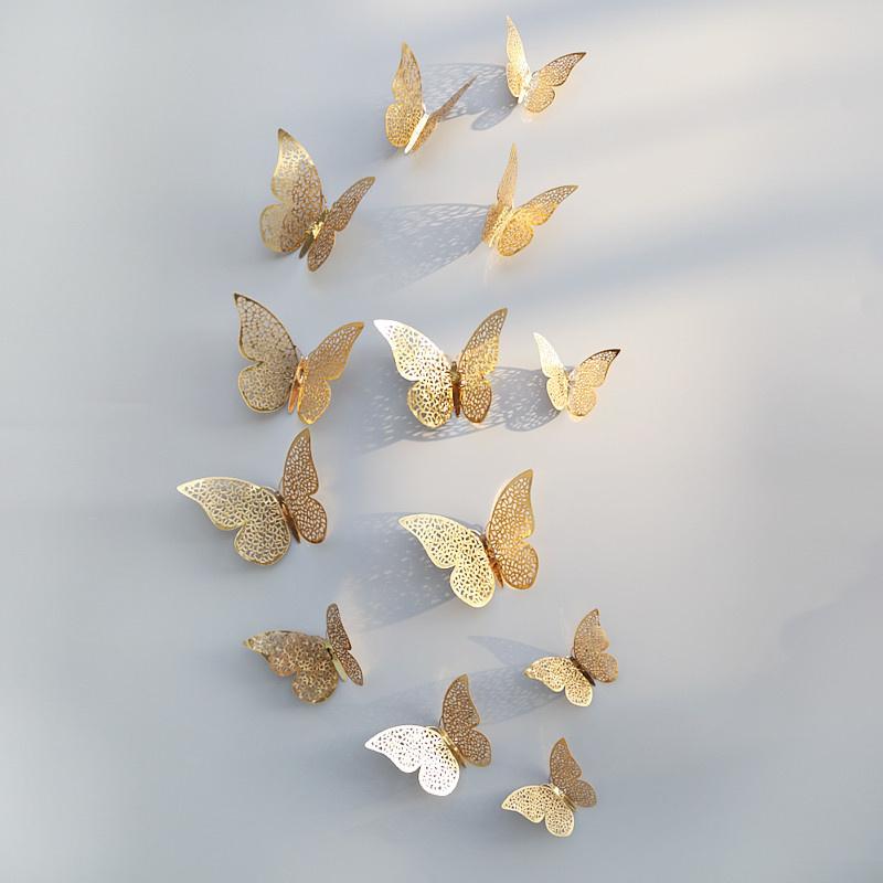 3D Vlinders Metaal Goud