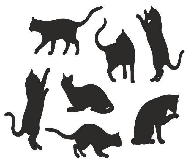 Muursticker spelende katten
