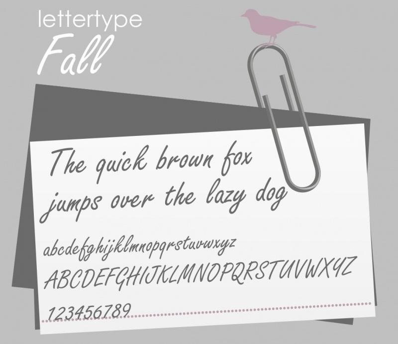Lettertype Fall