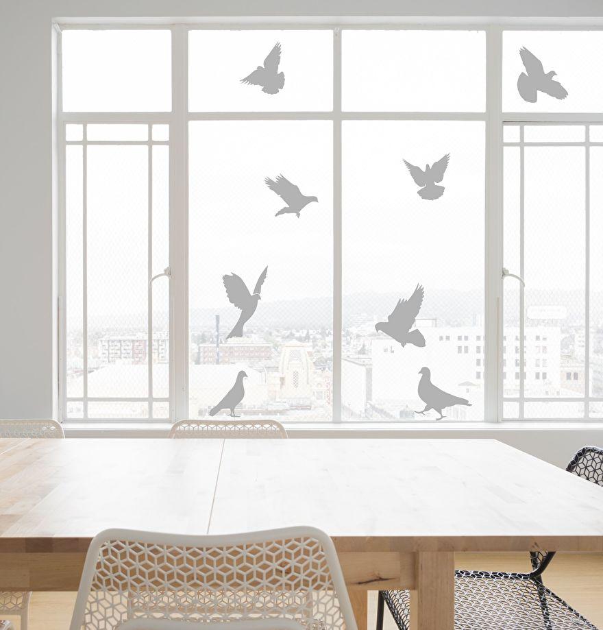 Muursticker Duif - Muursticker duiven