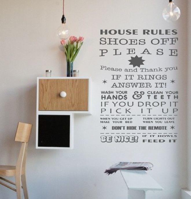 Muursticker House rules