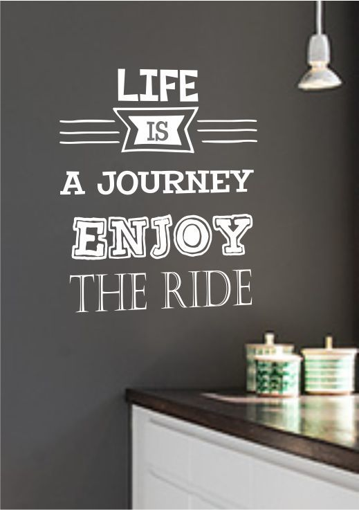 Muursticker tekst Life is a Journey