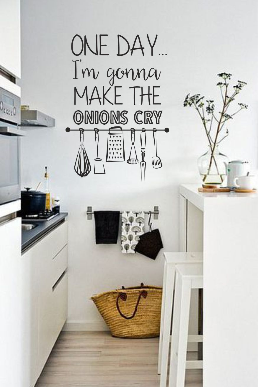 Muursticker Tekst Onions cry