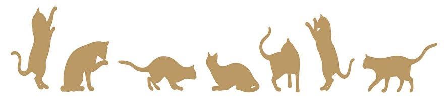 Muursticker katten- muursticker poezen