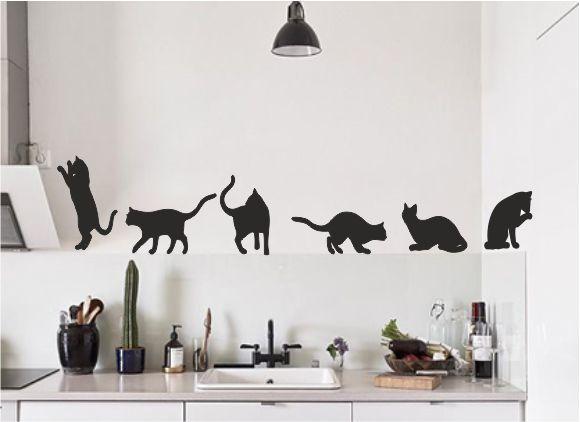 Muursticker katten