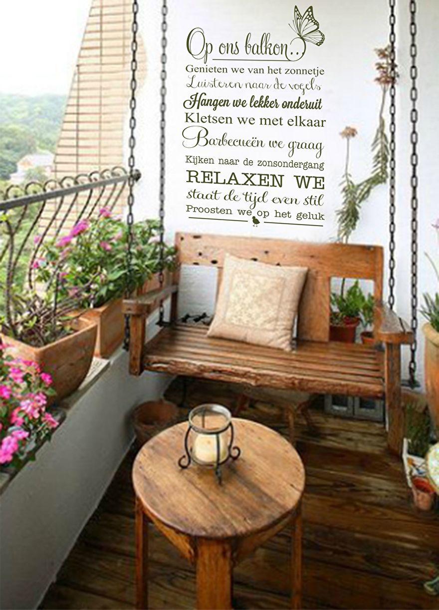 Muursticker Balkon