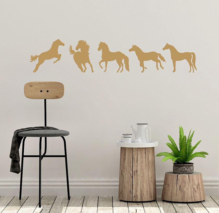 Muursticker Paarden