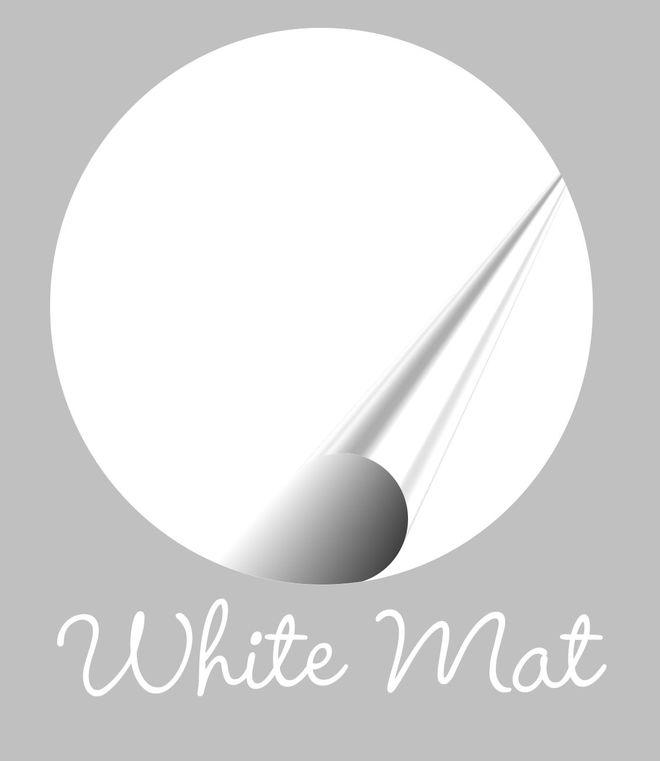 Muursticker wit Mat