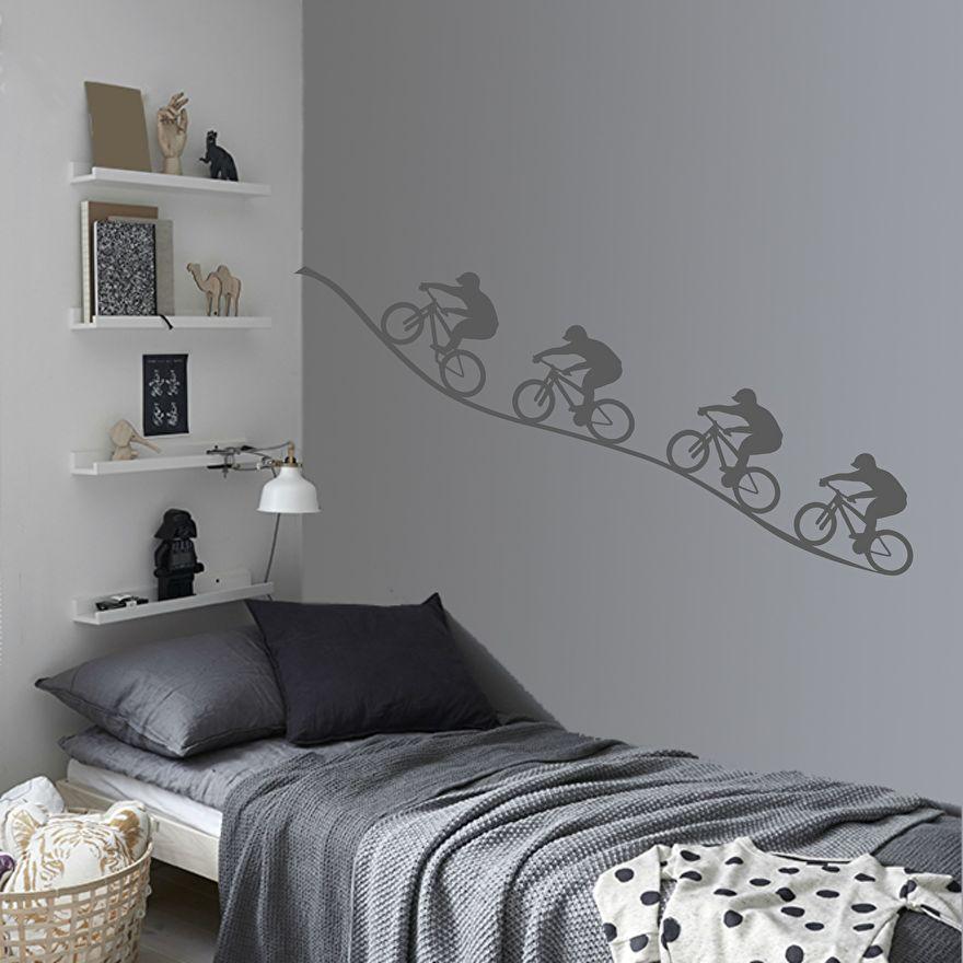 muursticker fiets