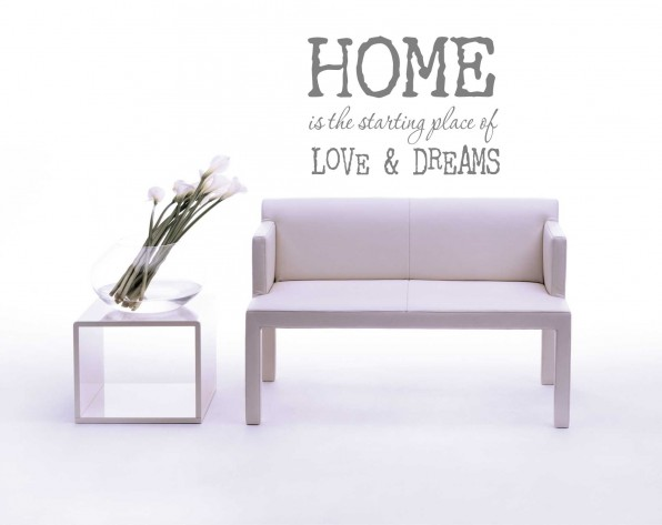 Muursticker Home Love Dreams