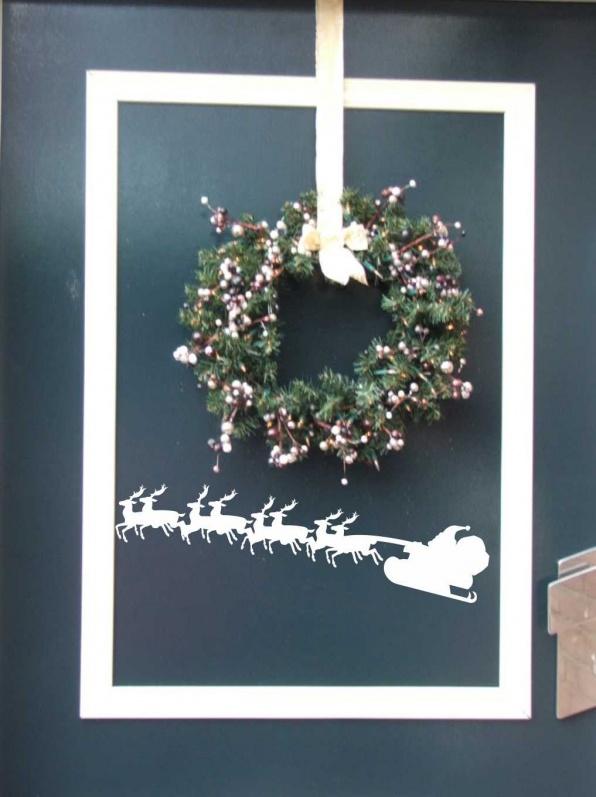 Kerstman met slee-muurstickers-muursticker-3D letters-muurletters -MUURSTICKERS -muurstickers kinderkamer-muurstickers babykamer-muurstickers dieren- muurstickers teksten-interieur stickers -wandstickers- muursticker - muurdecoratie -muurstickers gedichten- muur stickers - interieursticker -wall stickers - kinderkamer stickers - muur decoratie -plaktekst
