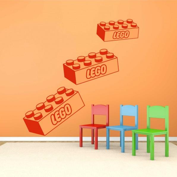 Muursticker Legoblok, Lego