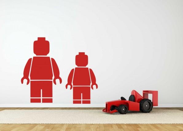 Muursticker Lego minifiguur