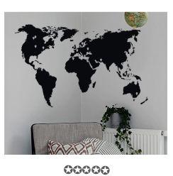 Muursticker wereldkaart met google markers