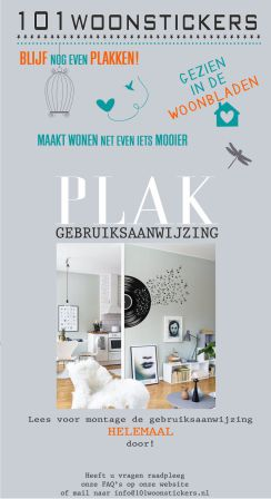 Muursticker-Plakinstructies