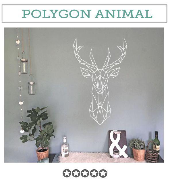 Muursticker Polygone dieren