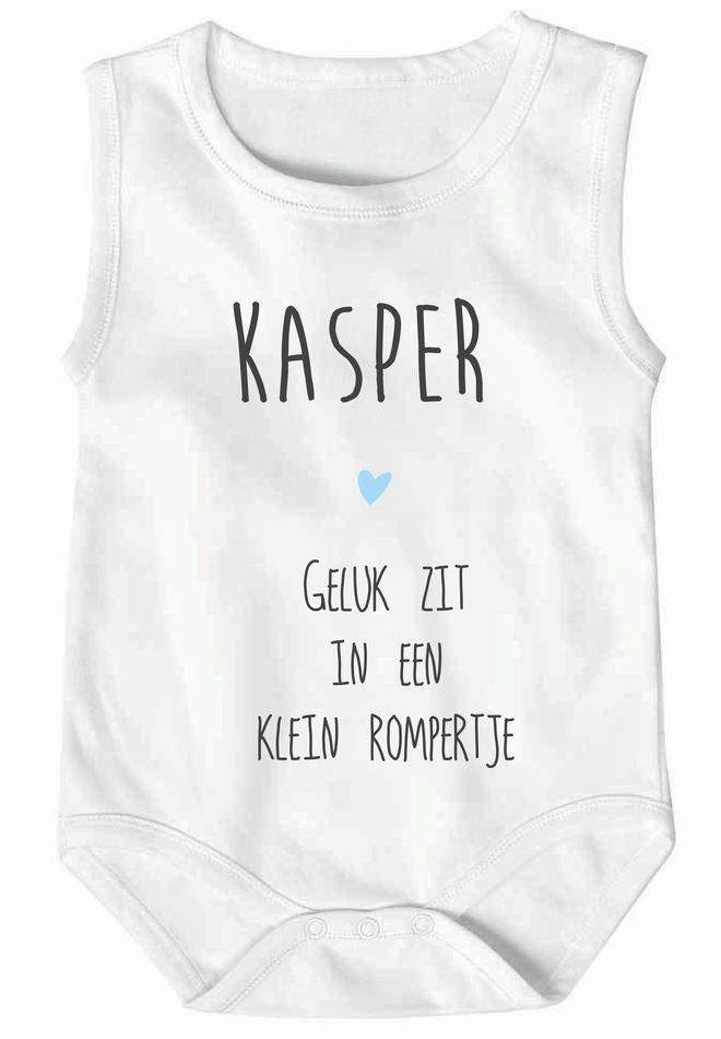 Romper bedrukt met eigen naam