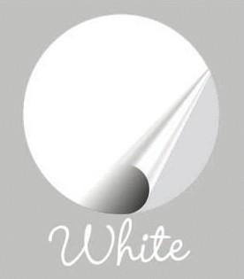 Muursticker wit