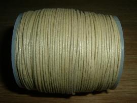 Waxkoord in een mooie camel metallic kleur 1.0 mm.