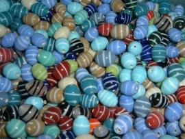 100 Gram mooie vrolijk gekleurde glaskralen