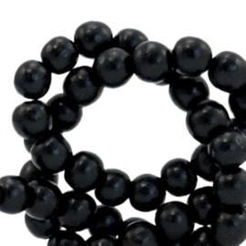 35 stuks Houten kralen rond 6mm Black