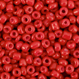 Glaskralen Rocailles 3mm Crimson Red 20 gram