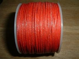 Waxkoord in een mooie rode metallic kleur 0.5