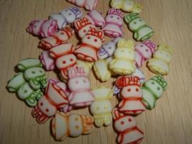 Mooie pastelkleurige konijntjes mix