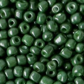 Glaskralen Rocailles 4mm Donker diep groen 20 gram