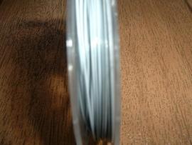 Gecoat staaldraad 0,45 mm. in de kleur wit