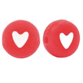 Letterkraal hartje rood