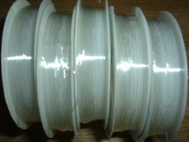 Elatisch nylondraad transparant 0.6 mm.