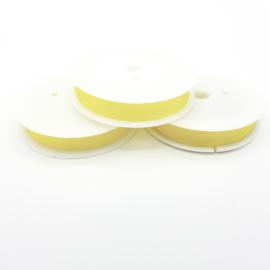 Nylondraad geel 1,0 mm (elastisch)