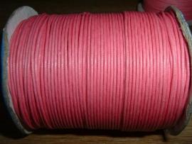 Waxkoord roze 1,0 mm.