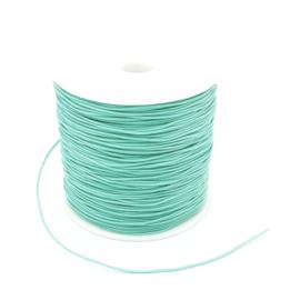 Macrame draad 0.8 mm. licht turquoise groen per meter