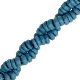 Kokos kralen disc 6mm Maritime blue