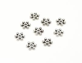 Spacer bali antiek zilver (nikkel vrij) 6.7 mm