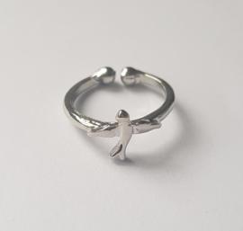 Must have ringen in zilverkleur met vogeltje