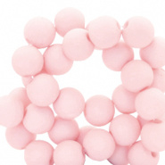 50 stuks Acryl kralen mat Roze  8mm.