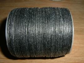 Waxkoord in een mooie zwarte metallic kleur 1.0 mm.