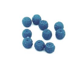 Mooie blauwe glitterkralen van 8 mm.