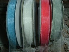 Mooi organza lint in verschillende kleuren 10 mm.